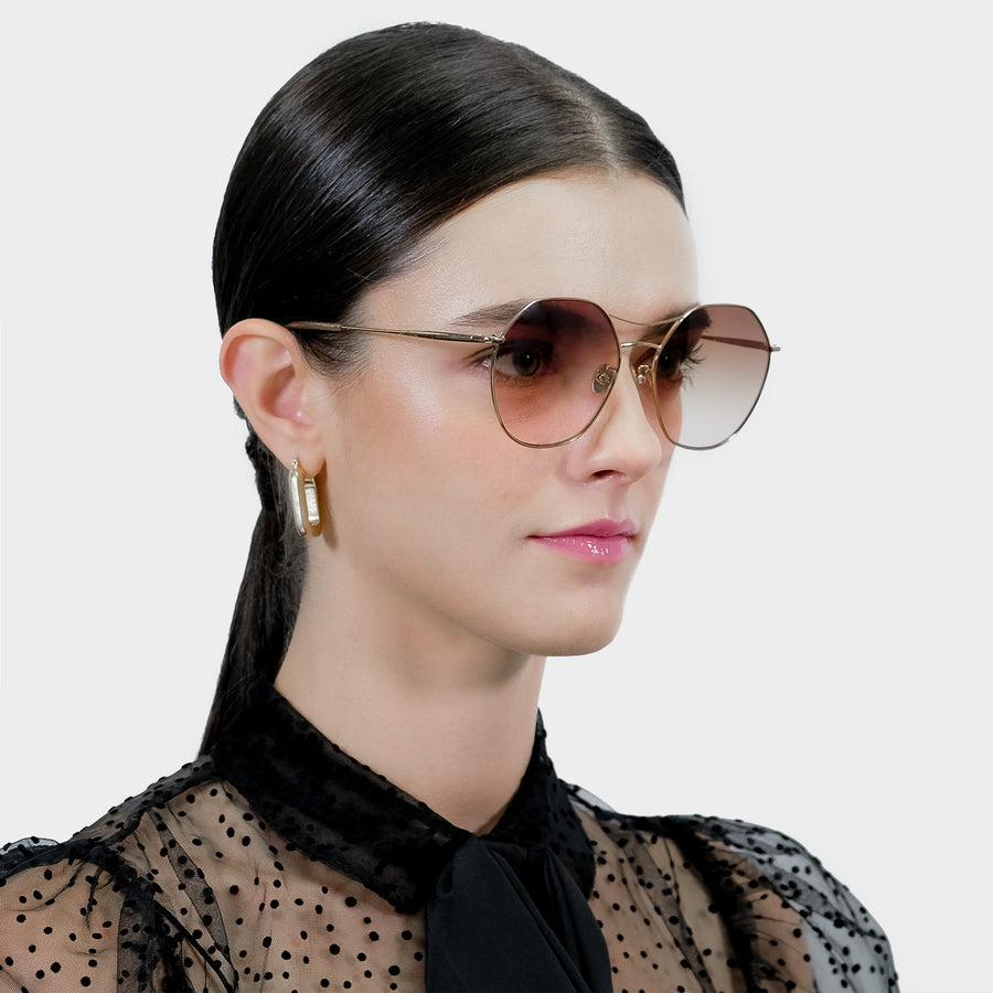 Hexagon Shaped Aviator Sunglasses | JILLSTUART Eyewear COURTNEY