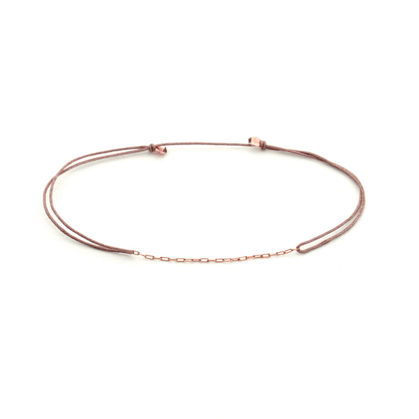 DELICATE CHAIN Dark Beige Rose Gold
