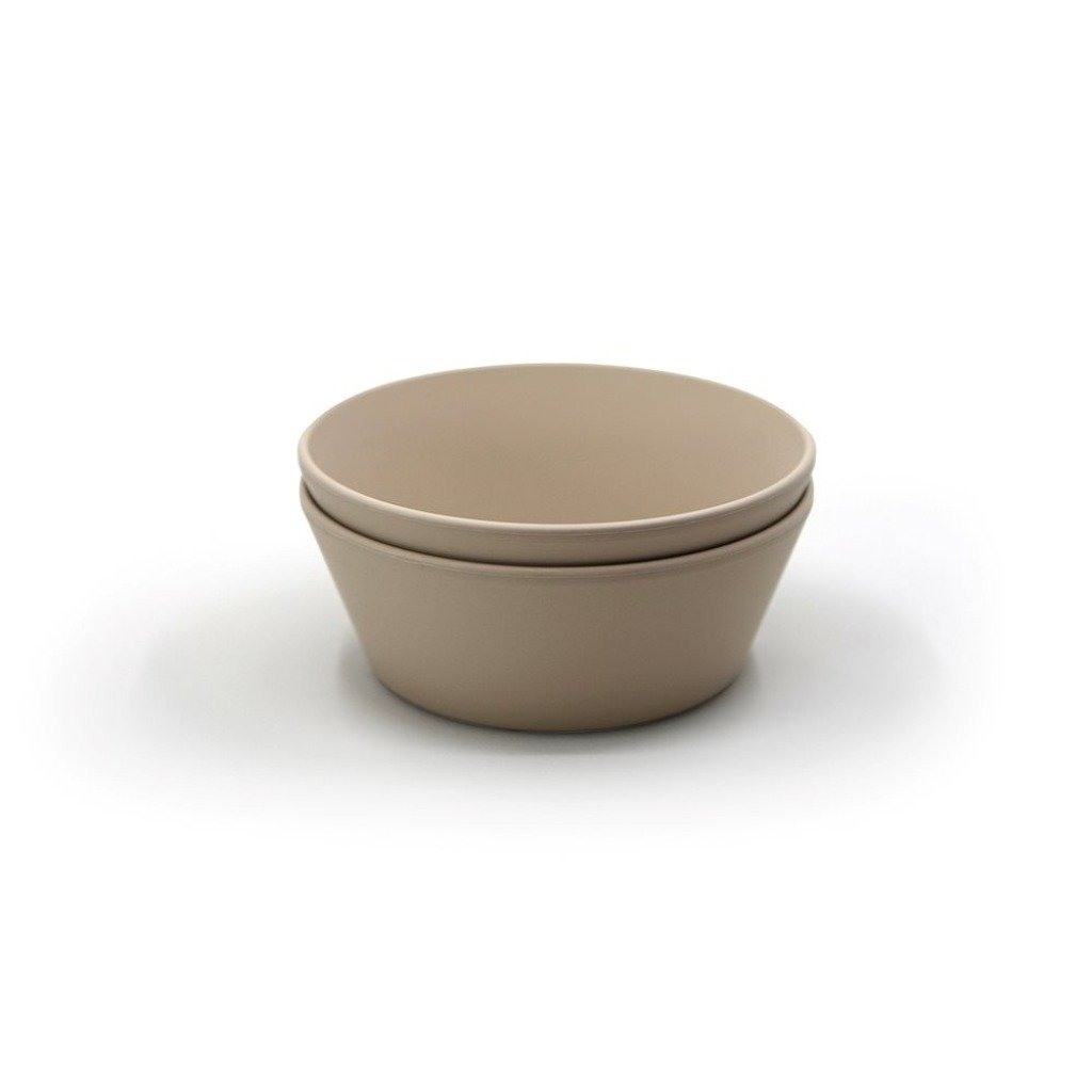 Mushie Dinner Bowl Round Vanilla - Set of 2