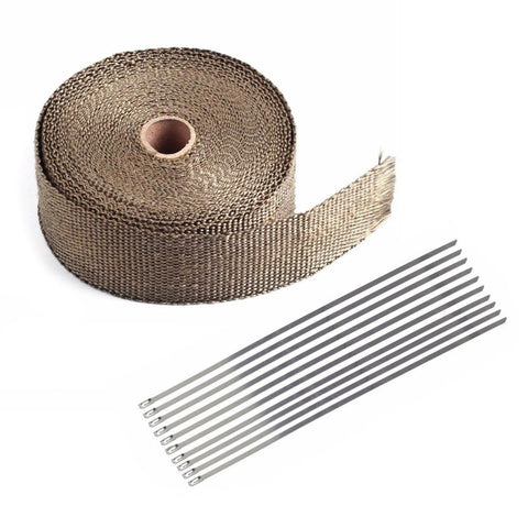 "2"" x 50ft High Temperature Header Manifold Exhaust Wrap Roll"