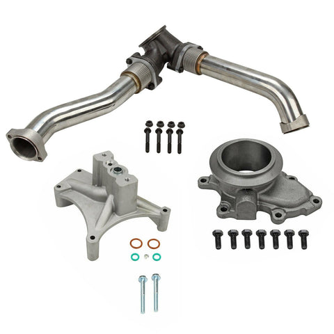 EBP Delete 7.3 Up Pipes NON EBPV Ehaust Outlet Adapter &Pedestal 1999-2003 Ford 7.3 Powerstroke