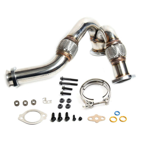 2003-2007 Ford 6.0L Powerstroke Heavy-duty Turbo  Left Y-Pipe Up Pipe, V-Band Clamp & Hardware