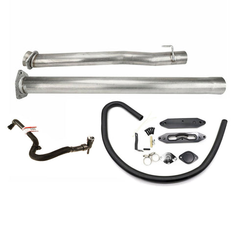 6.7 DPF and EGR Delete Kit with Pass-Through Plate 2015-2016 Ford 6.7 Powerstroke use OE Probe