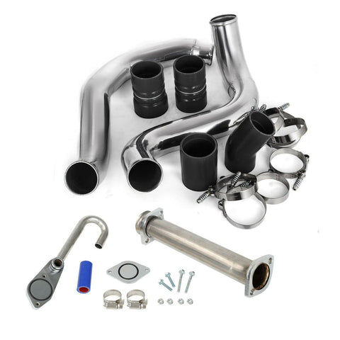 6.0 Powerstroke Diesel Intercooler Pipe and Tbolt clamp EGR Delete Kit for 2003-2007 Ford