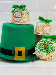 Luck of the Irish Mini Gourmet Popcorn Cakes
