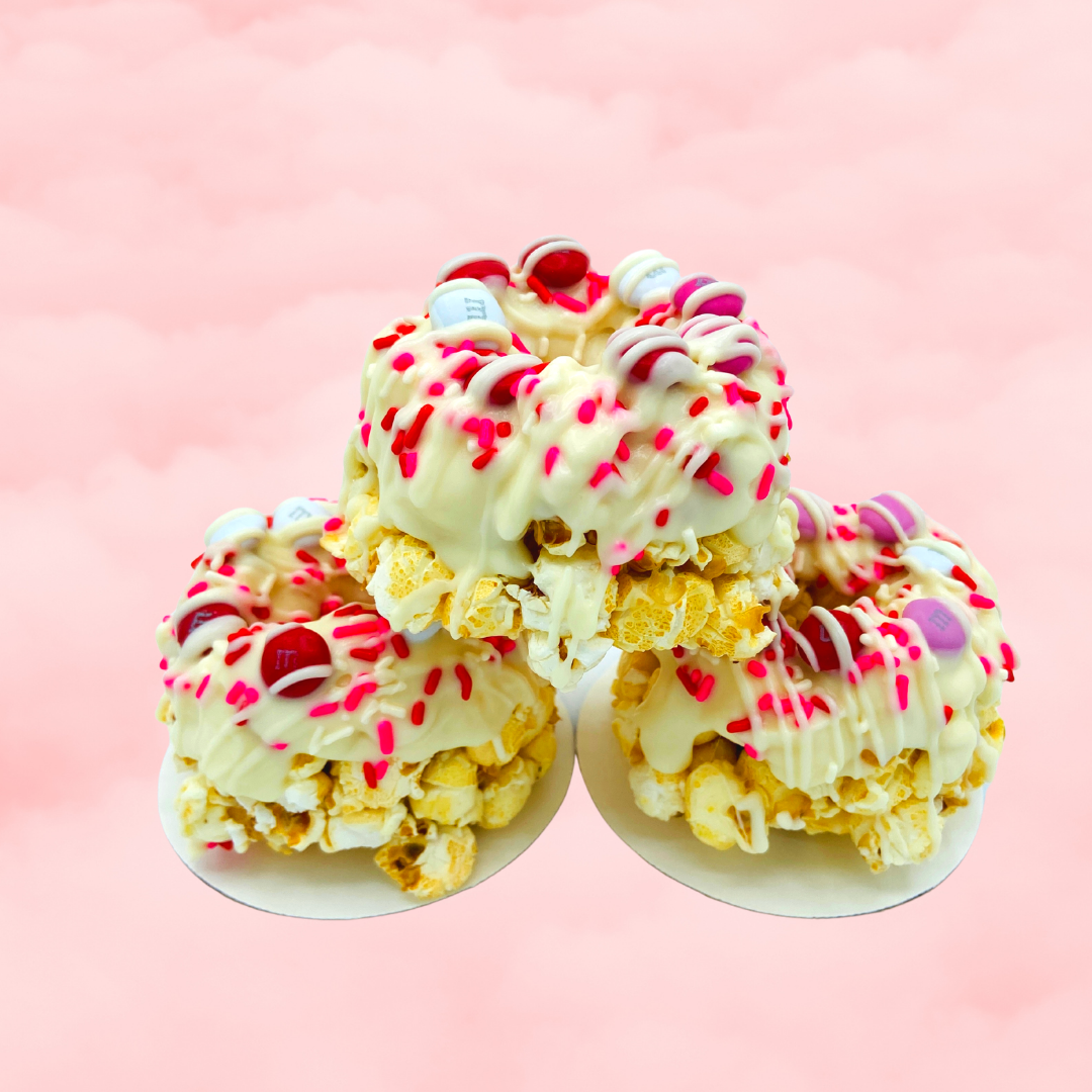 Love is Sweet Mini Gourmet Popcorn Cakes