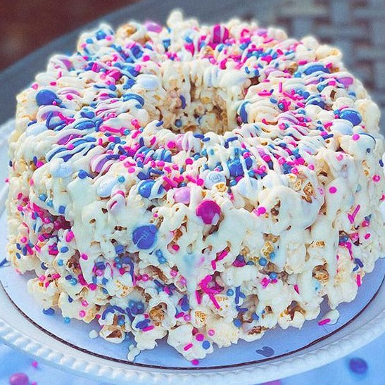 Gender Reveal Gourmet Popcorn Cake