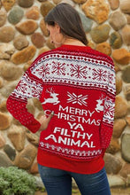 Load image into Gallery viewer, Merry Christmas Ya Filthy Animal Sweater