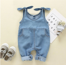 Load image into Gallery viewer, Denim Overall Jumpsuit