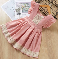 Rose & Cream Lace Detailed Dress