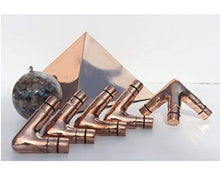 Load image into Gallery viewer, Deluxe Copper Giza Lite Duty Meditation Pyramid 5 feet Base paulabestdeals.myshopify.com