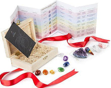 Load image into Gallery viewer, ZATNY Healing Crystals Gift Kit in Wooden Box paulabestdeals.myshopify.com
