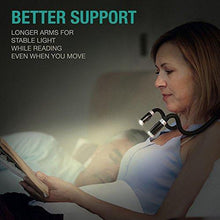 Load image into Gallery viewer, LuminoLite: Rechargeable LED Book Light, Neck Hug Reading Lights for Relaxed Reading paulabestdeals.myshopify.com