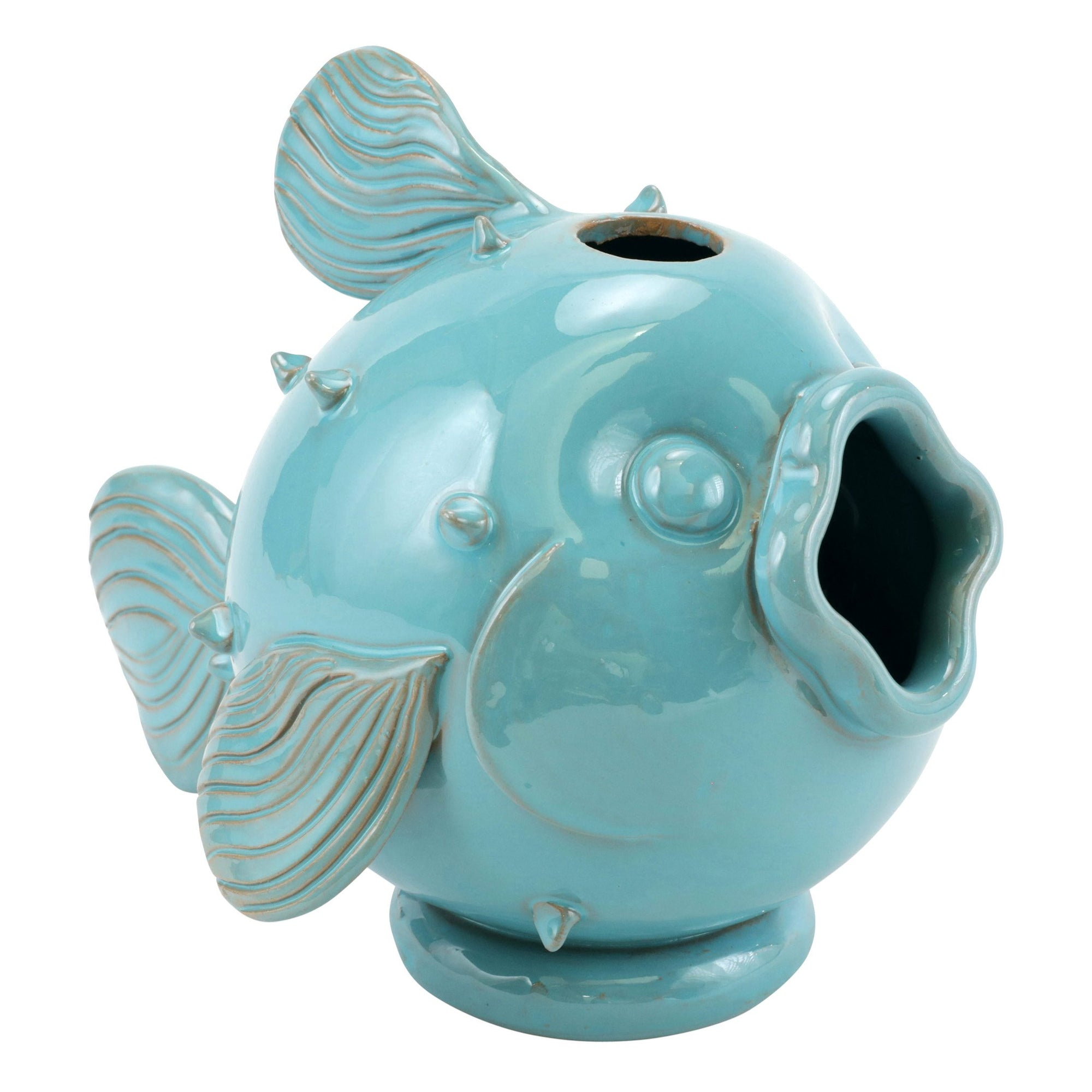 Small Turquoise Fish Lamp Base by VIETRI