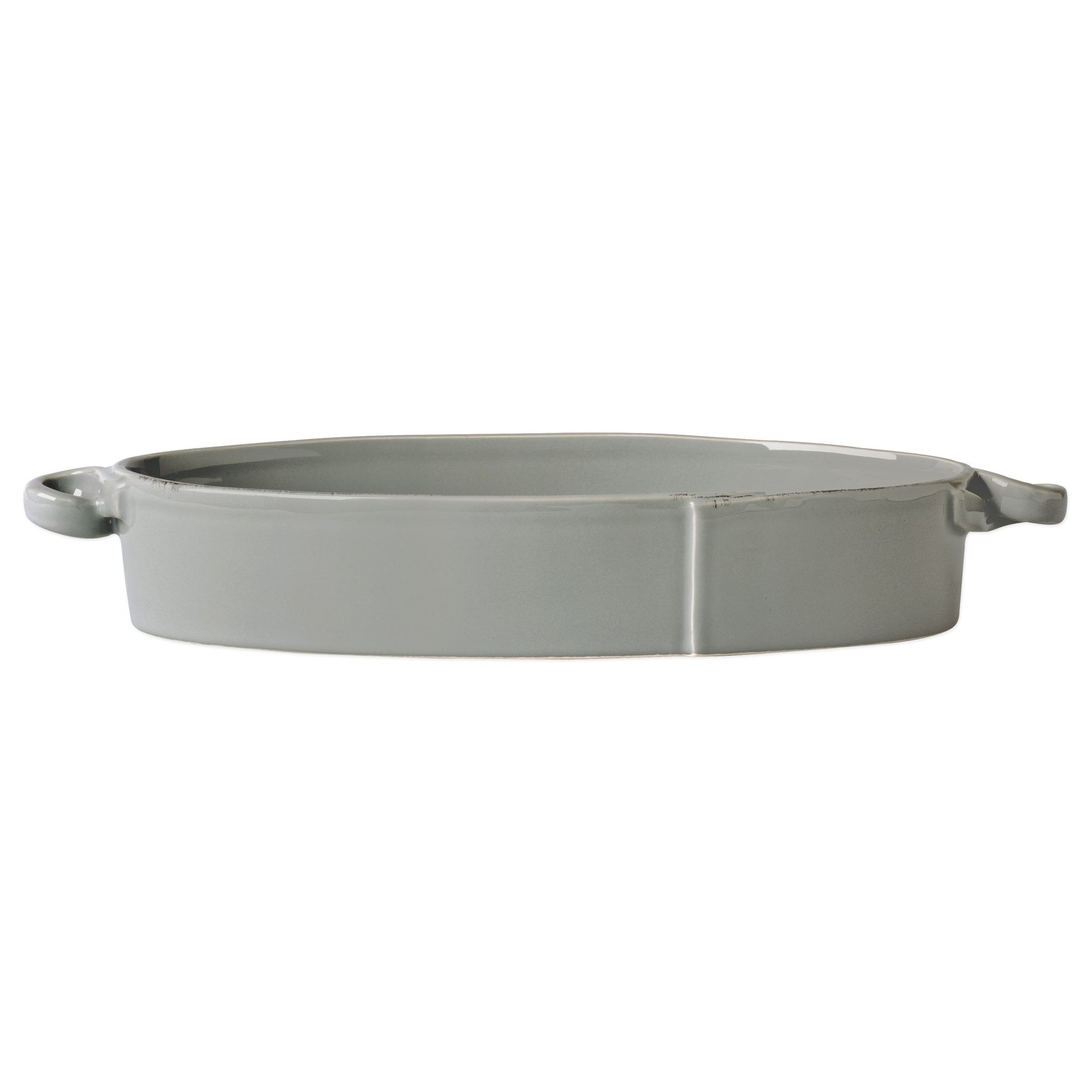 Lastra Gray Handled Oval Baker by VIETRI