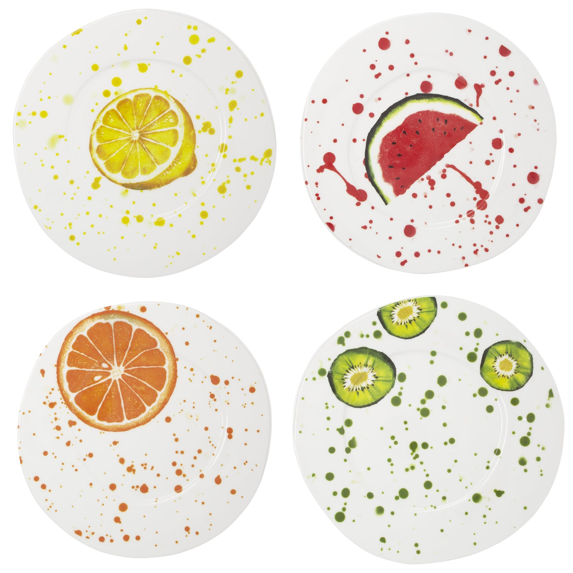 Melamine Fruit Assorted Dinner Plates - Set of 4 by VIETRI