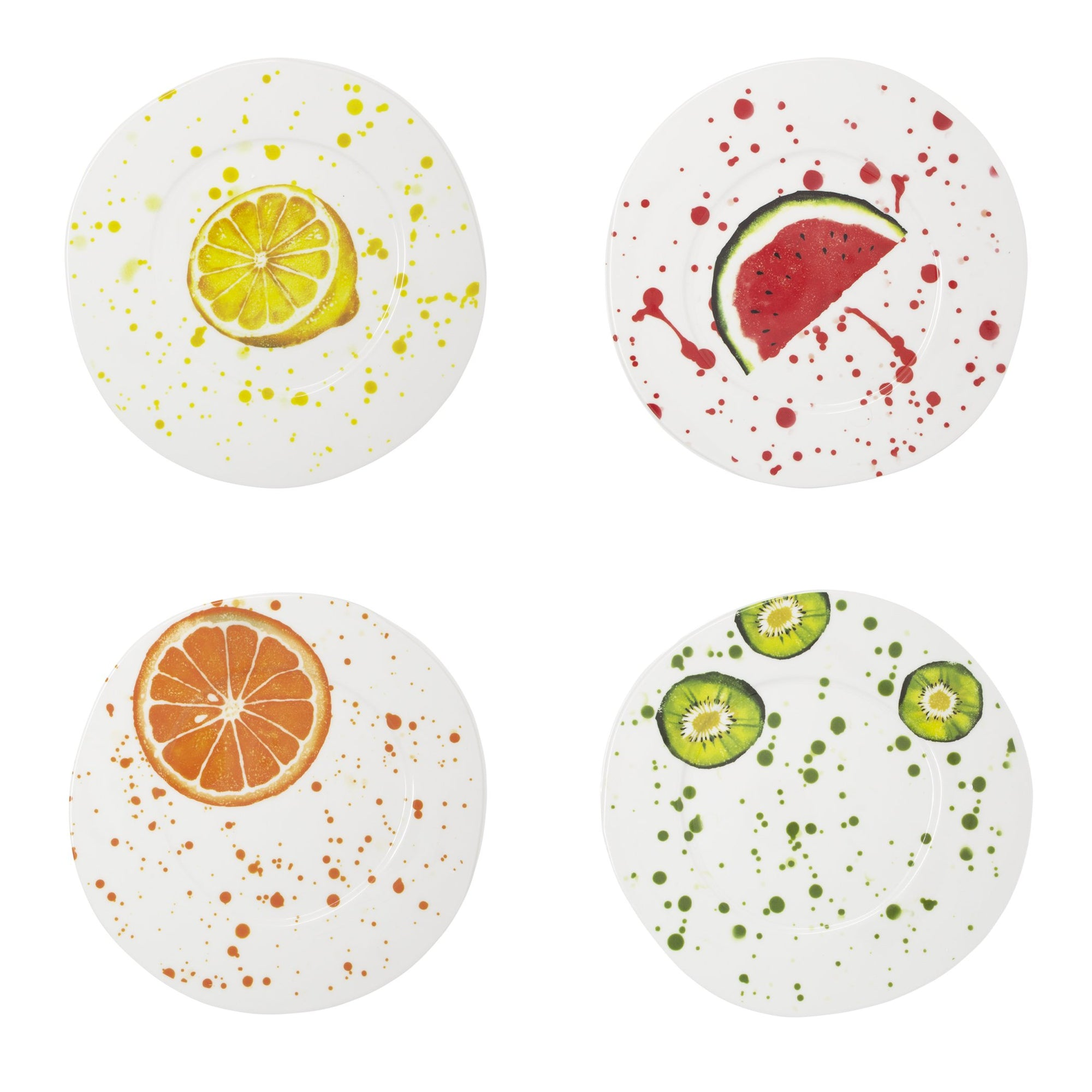 Melamine Fruit Assorted Salad Plates - Set of 4 by VIETRI