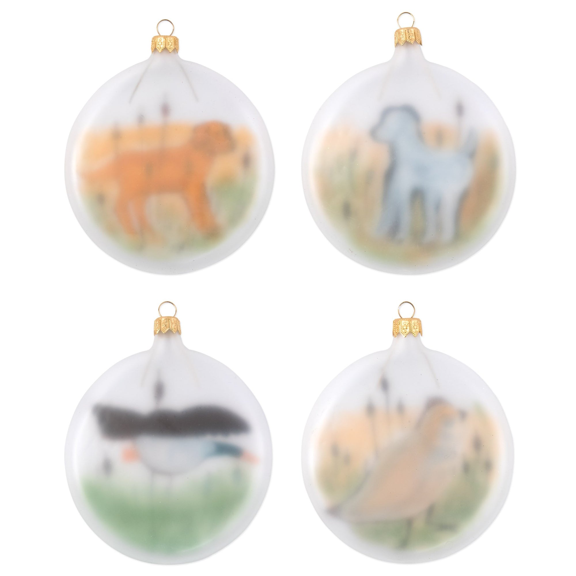 Ornaments Wildlife Assorted Ornaments - Set of 4 by VIETRI