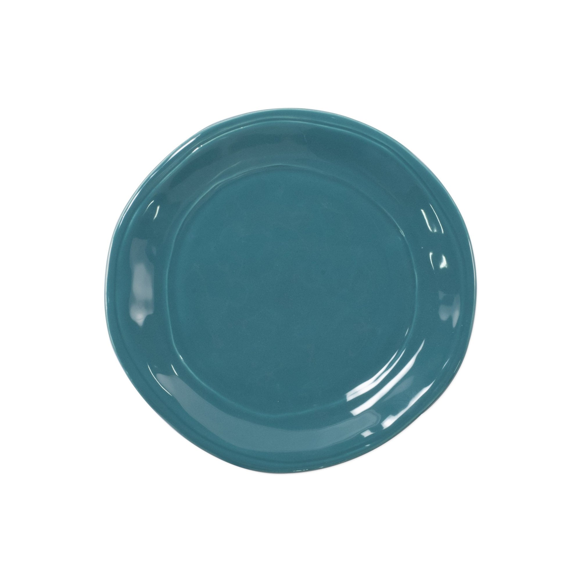 Fresh Teal Salad Plate by VIETRI