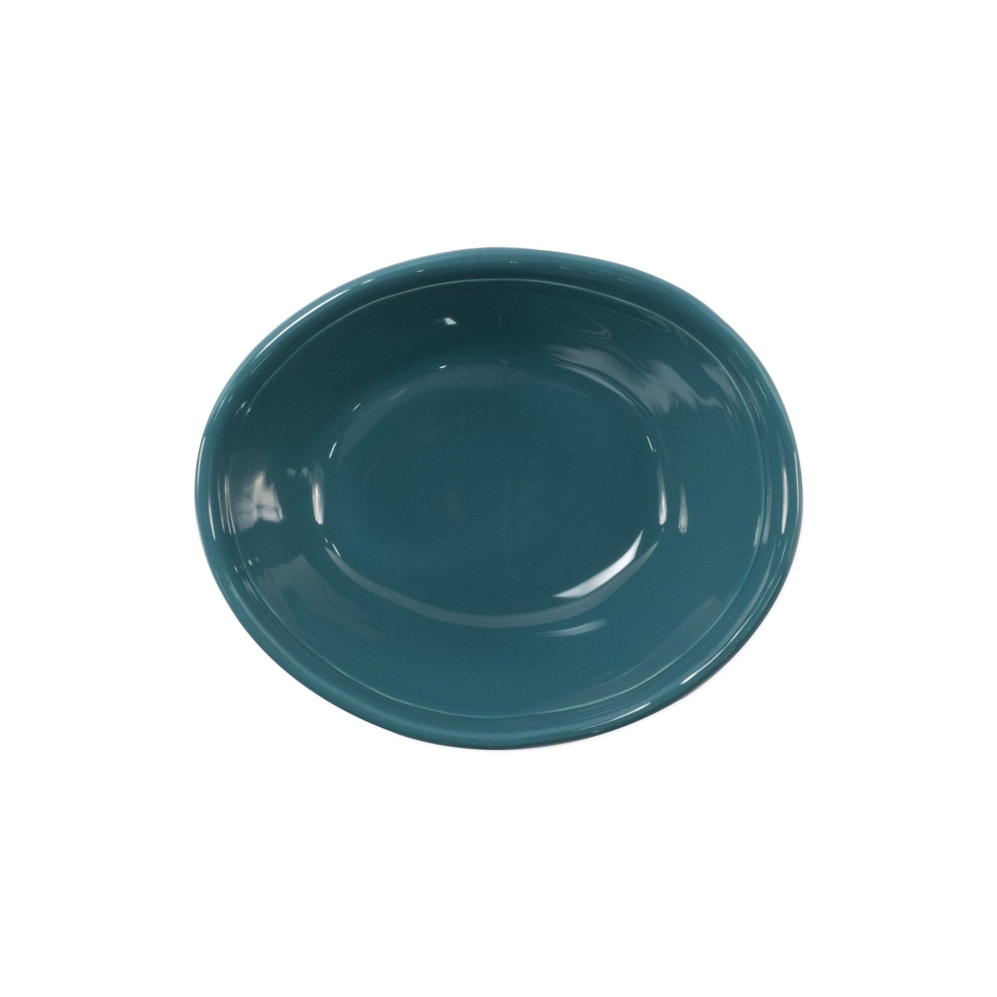 Fresh Teal Small Oval Bowl