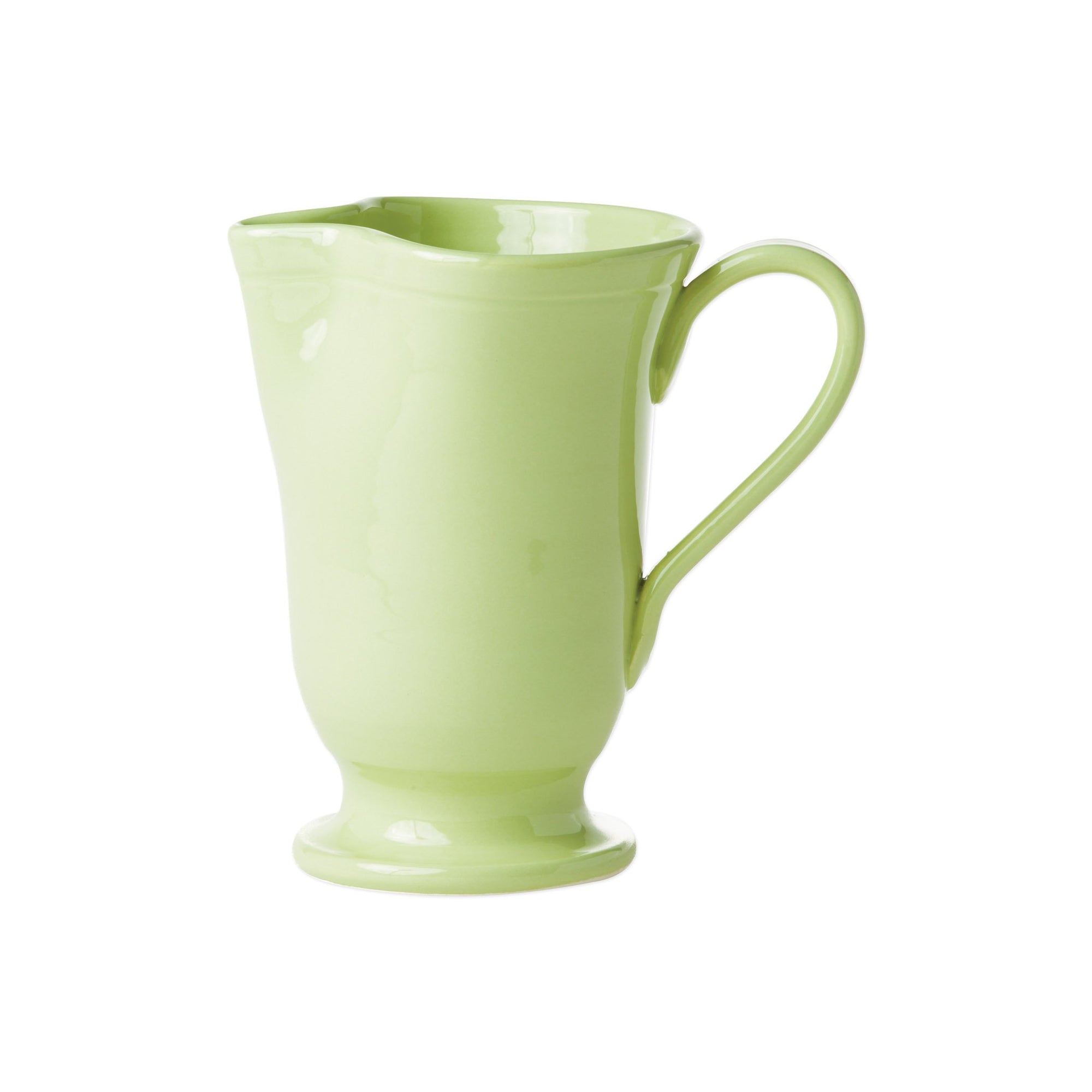 Fresh Pistachio Large Footed Pitcher by VIETRI