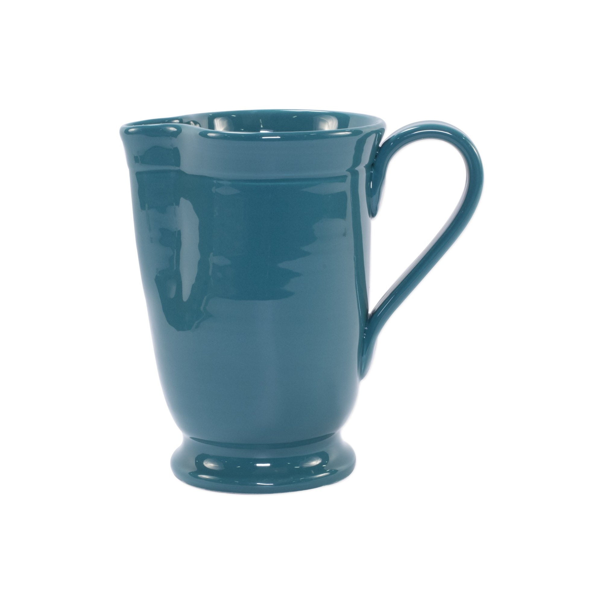 Fresh Teal Large Footed Pitcher by VIETRI