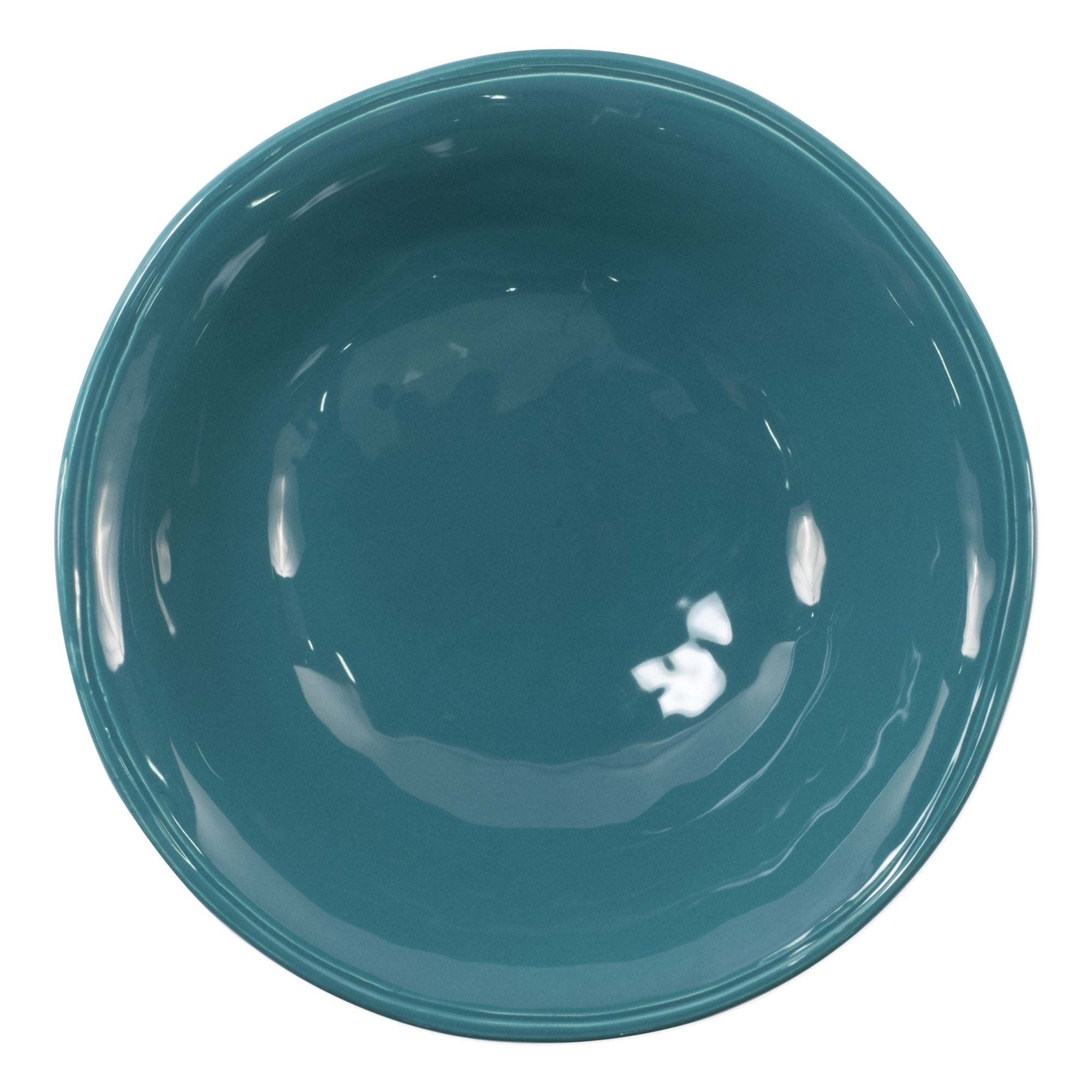 Fresh Teal Medium Serving Bowl by VIETRI