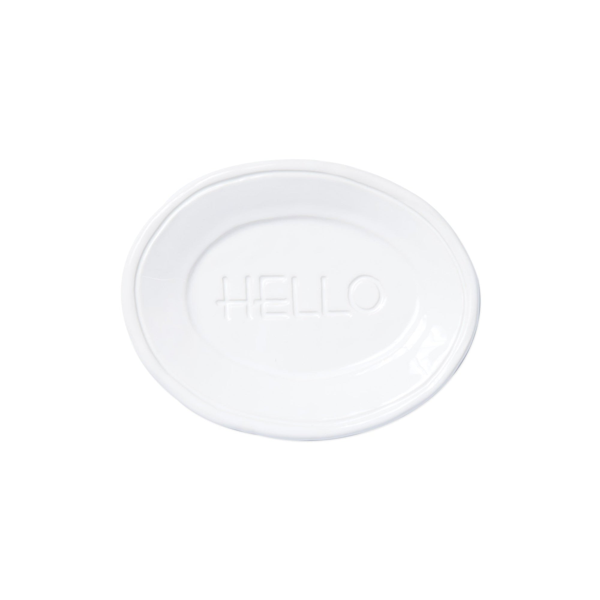 Fresh White Small Plate - Hello by VIETRI