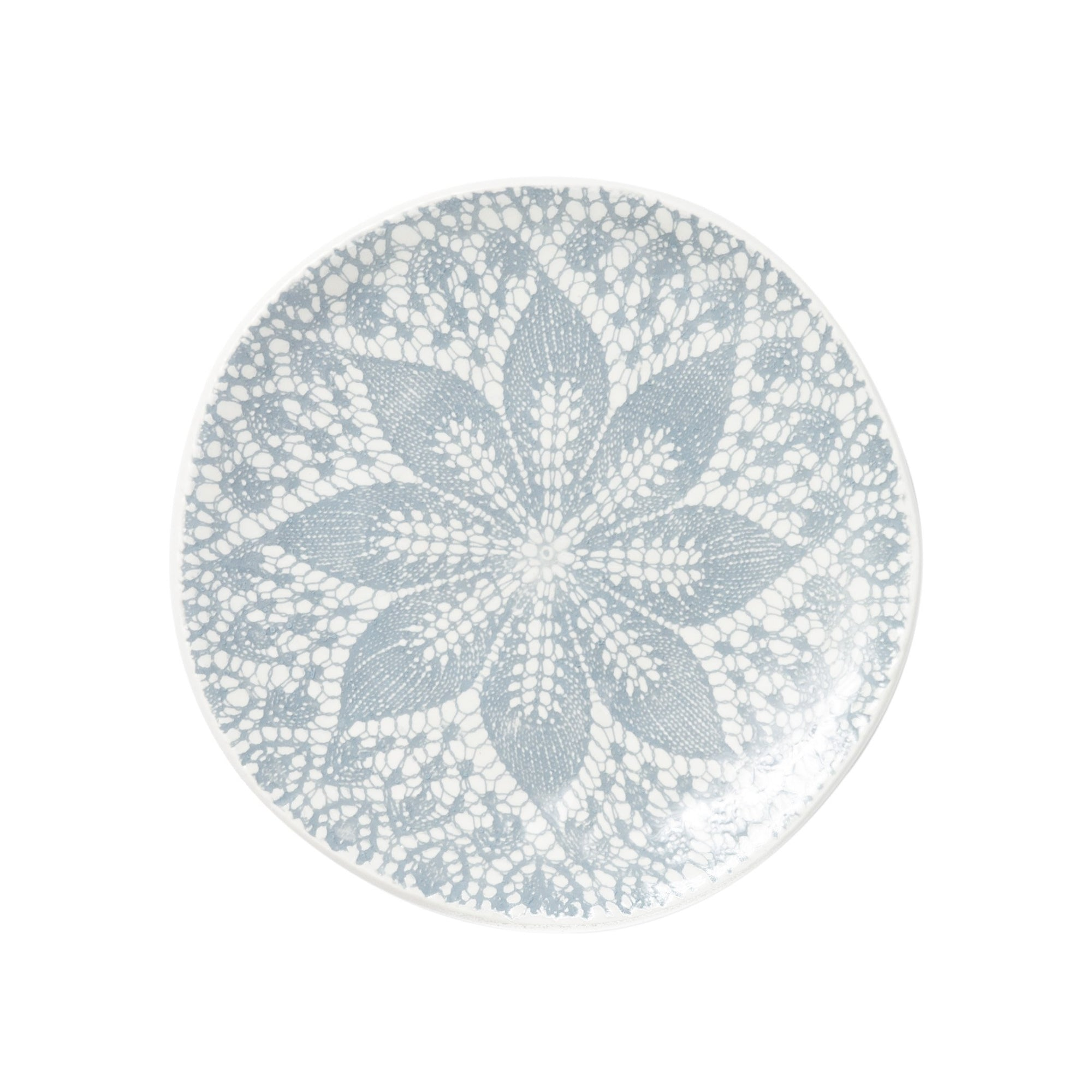 Lace Gray Cocktail Plates - Set of 4 by VIETRI