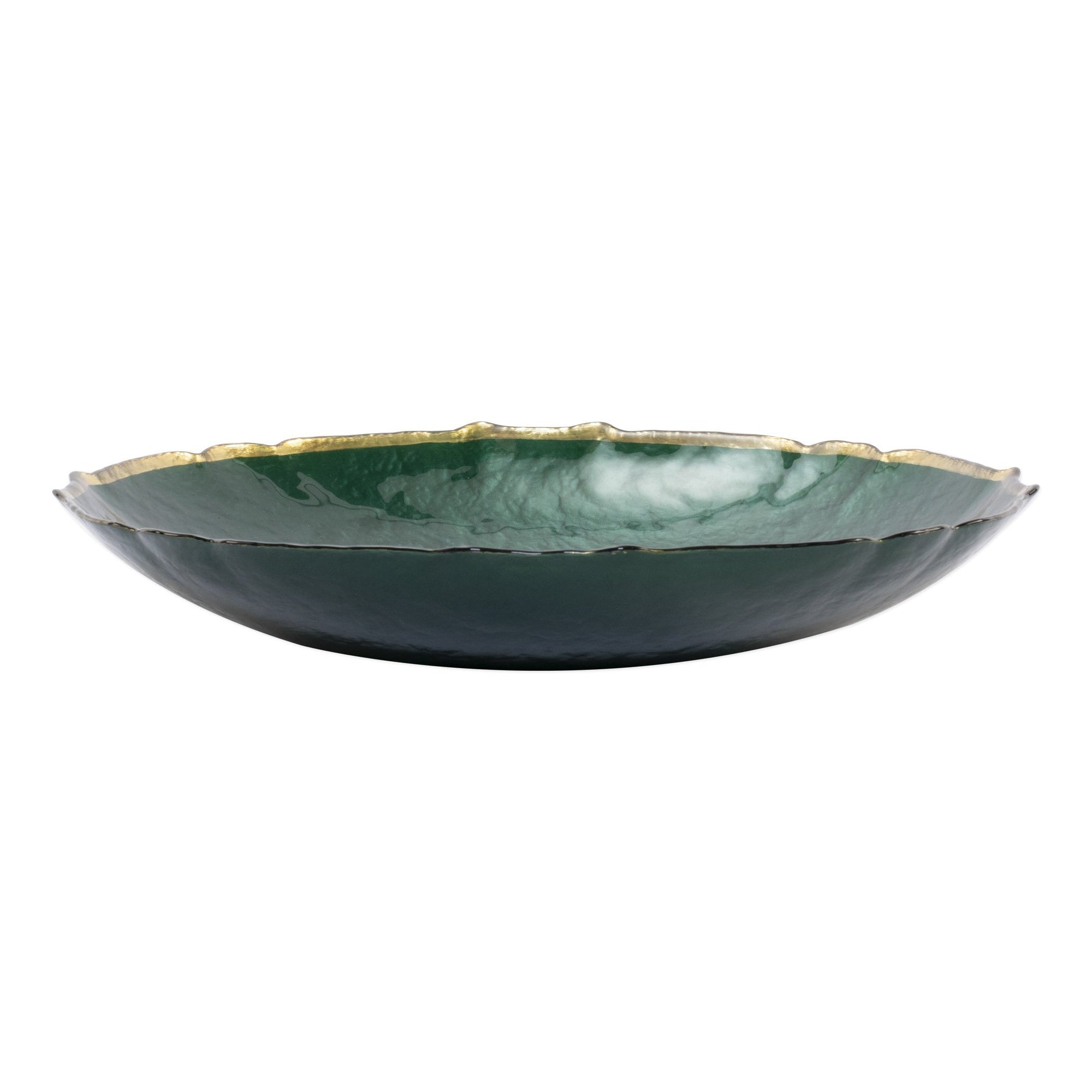 Baroque Glass Emerald Medium Bowl by VIETRI