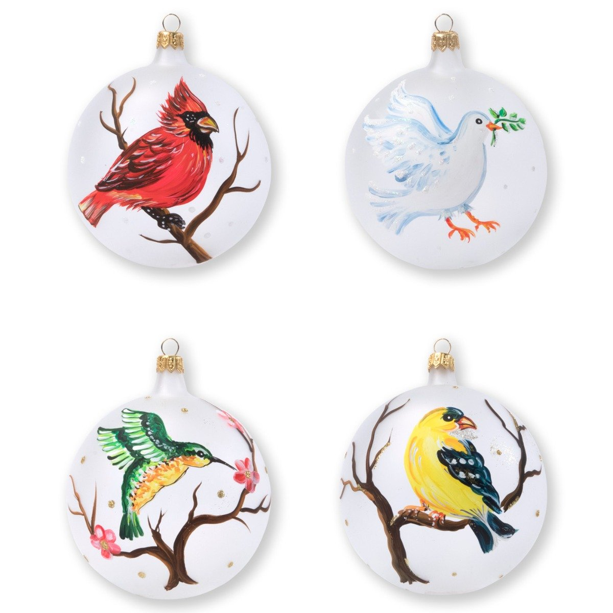 Ornaments Birds Assorted Ornaments - Set Of 4