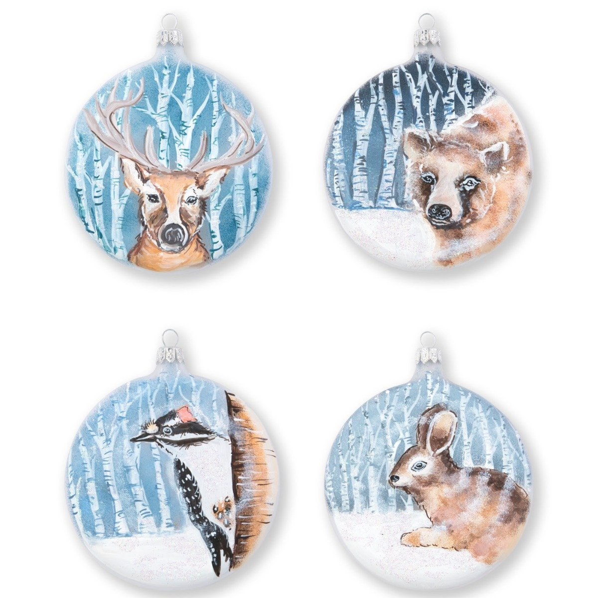 Ornaments Into The Woods Assorted Ornaments - Set Of 4