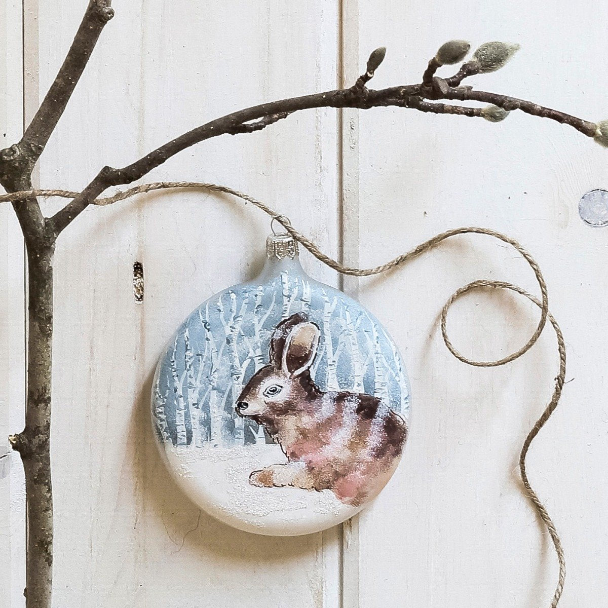 Ornaments Into The Woods Hare Disc Ornament
