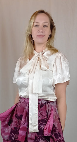Pretty white silk blouse