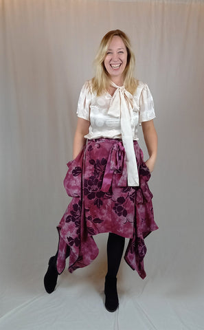 beautiful flower skirt