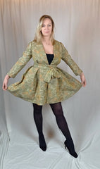 Gold floral silk jacket