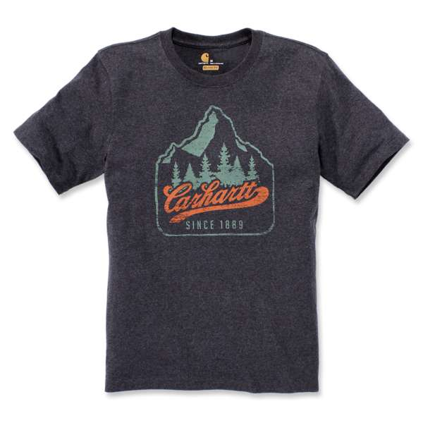 "Carhartt T-Shirt Patch Logo ""Carbon Heather"""