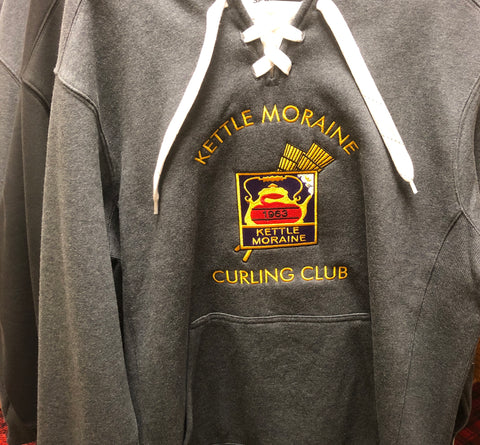 Custom embroidered sweatshirt for curling