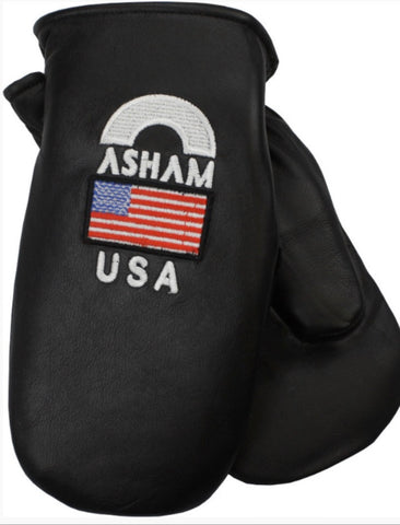 Asham Mitts for Curling - Black USA