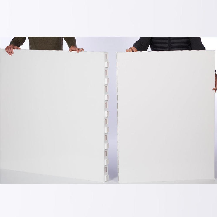 two man fitting l shaped diy partition room divider
