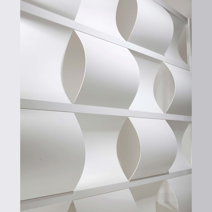 modern white room divider for office or home made of aluminum frame and PVC inserts