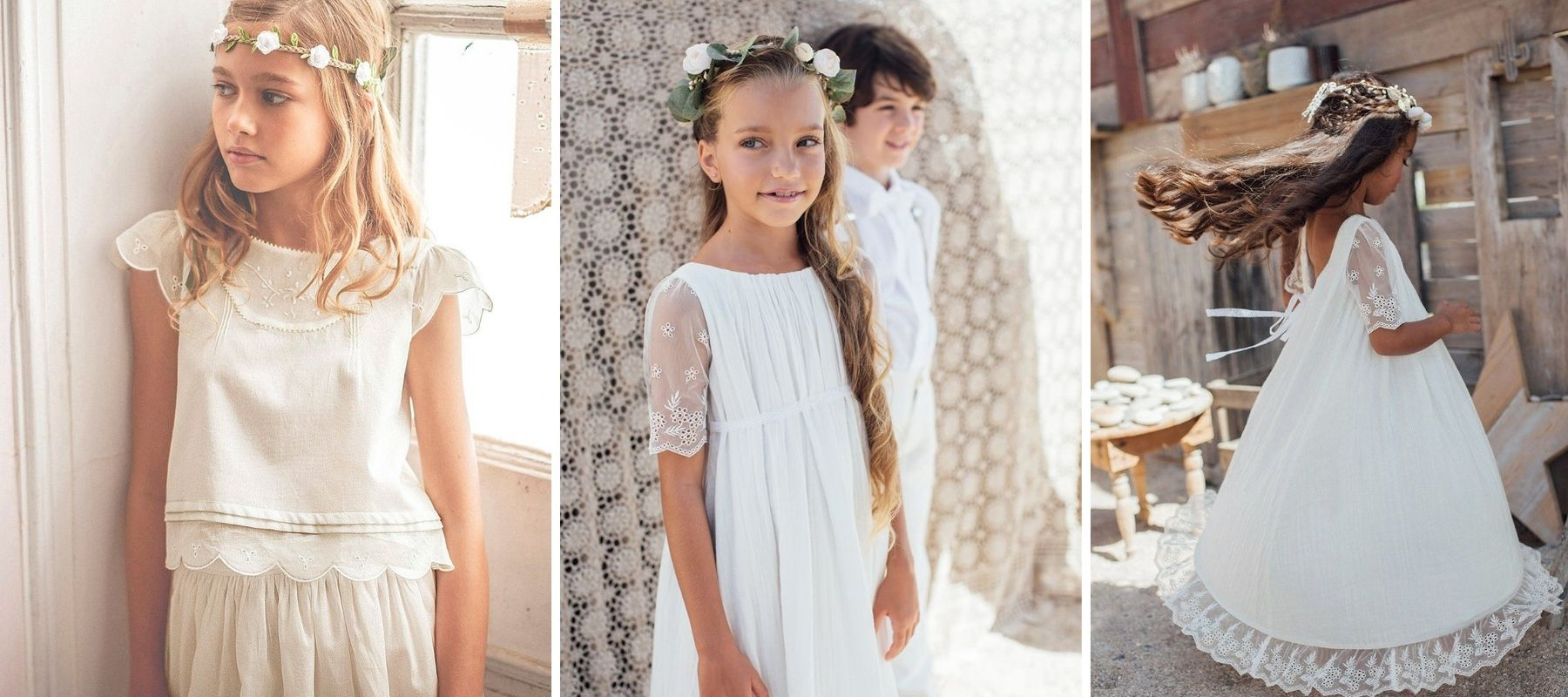 couronne fleurie petite fille mariage