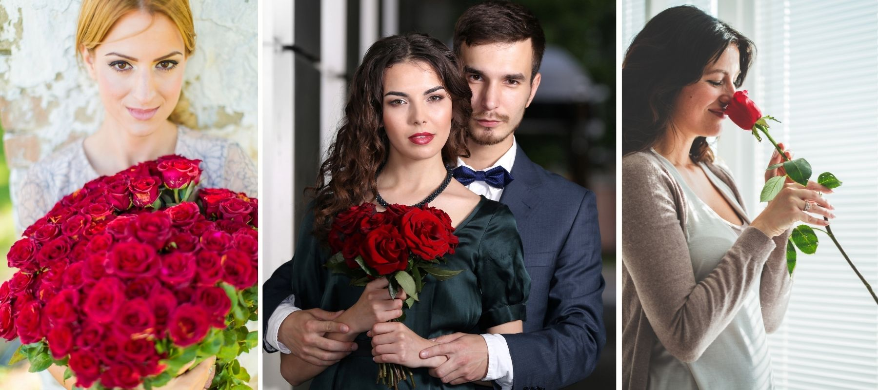 roses rouges amour femme couple