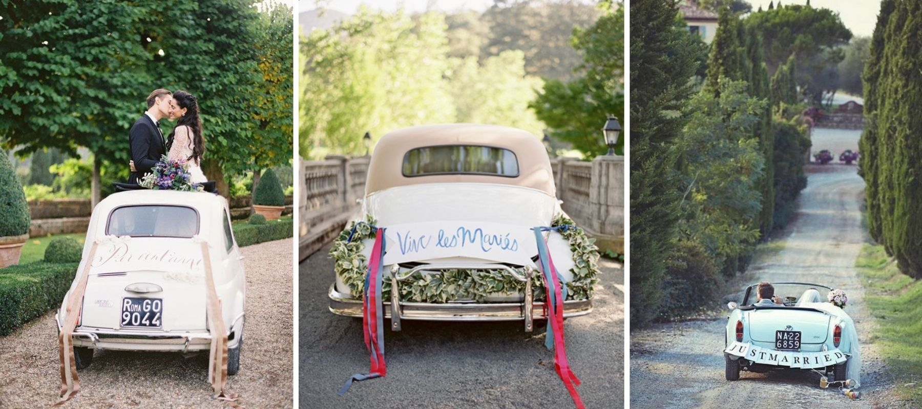 déco voiture just married