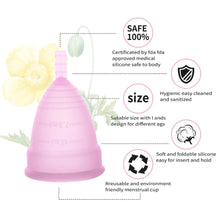 Load image into Gallery viewer, Silicone Reusable Menstrual Cup