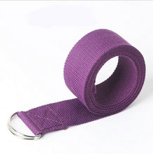 Load image into Gallery viewer, Yoga Stretch Strap D-Ring Buckle Belts