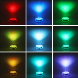 Submersible LED Pool Lights Remote Control + Lamp (RF)