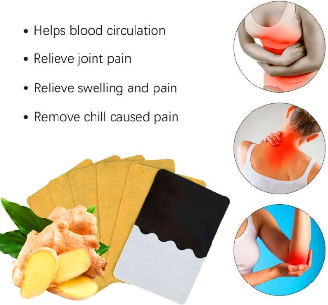 Lymphatic Detox Healing Ginger Patch - 10 Pcs