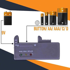 Battery Organizer with Energy Tester®