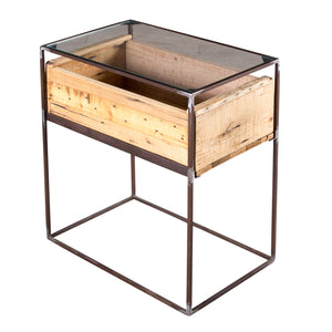 Landon Wood Box Side Table